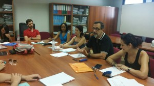 Jaén Student Advisors discuss the Delphi questionnaire